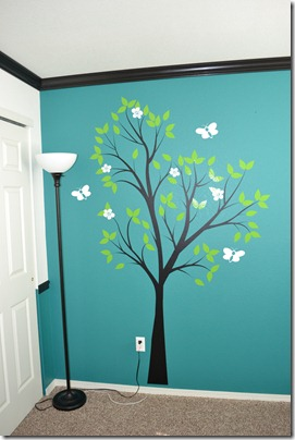 Tree decal in nursery