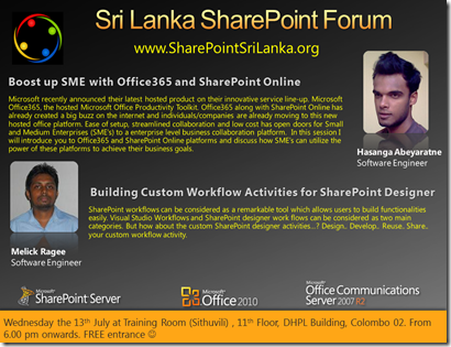 06 - SriLankaSharePointForum - 13th July 2011
