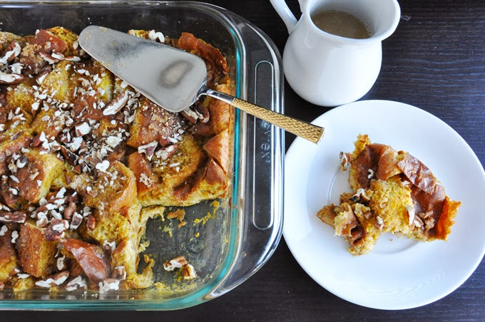 pumpkin brioche bread pudding 069