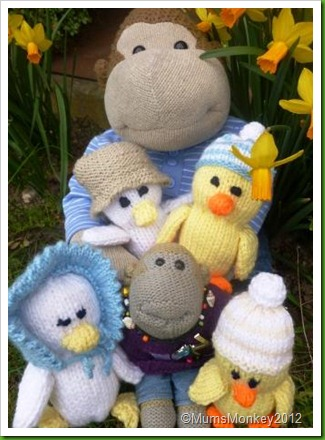 Knitted Easter Duck family