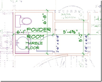Powder Room floor plan