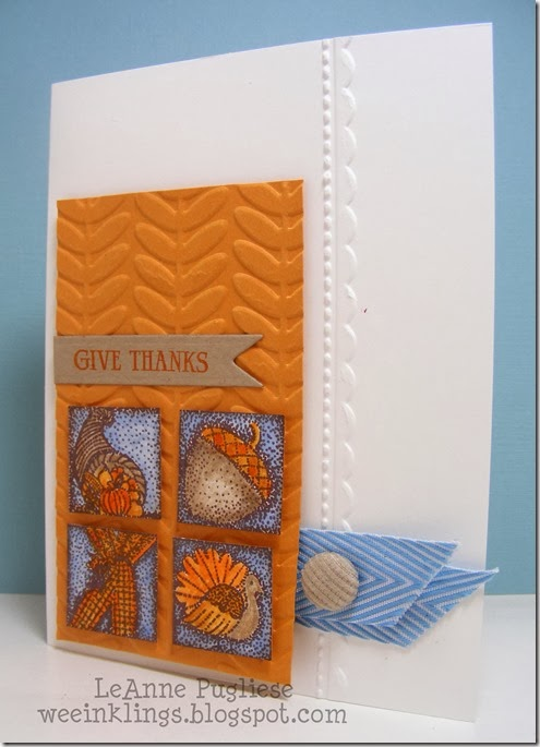 LeAnne Pugliese WeeInklings ColourQ 216 SCIC Thanksgiving Autumn Card