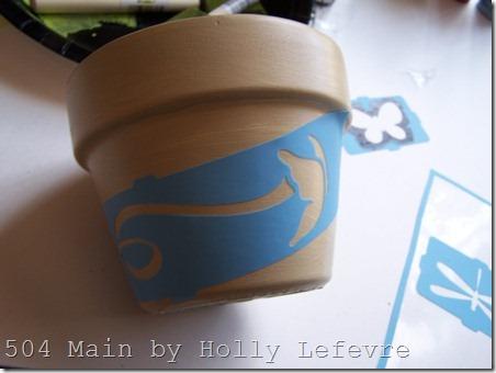 clay pot stencil 2