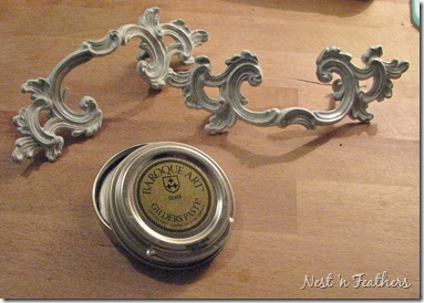 08 Grey white provincial table HANDLES