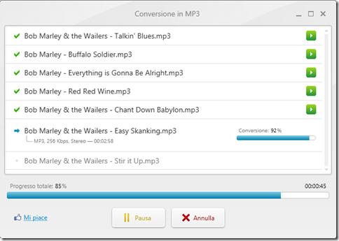 Freemake Audio Converter Conversione