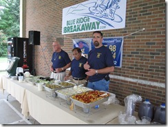 Sunrise Rotarians serving up supper!