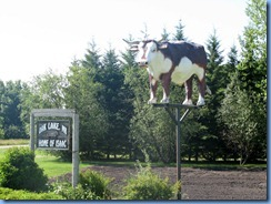 8410 Manitoba Oak Lake just off Trans-Canada Highway 1 - Oak Lake sign and Isaac the Ox