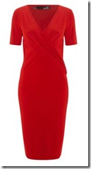 Love Moschino Short Sleeved Red Wrap Dress