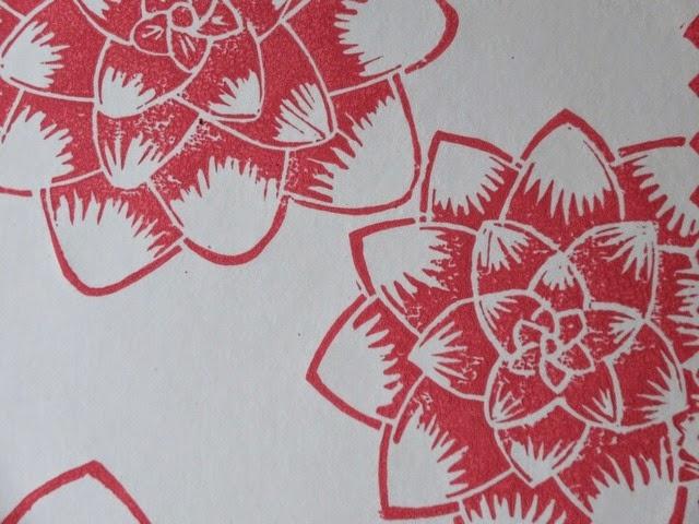linogravure_hblanchard_lotus_detail
