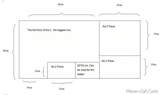 cat tower plan en 3