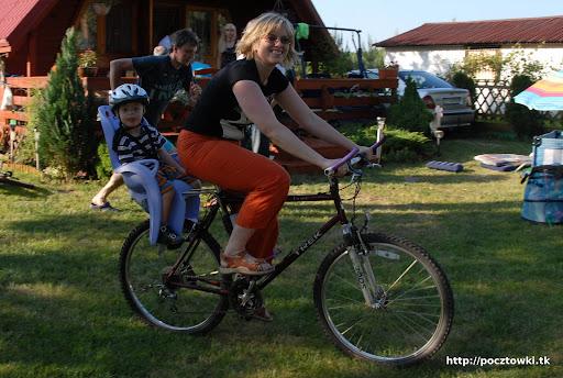 Mama szczęśliwa bo dawno tak nie podróżowała z Cysiem