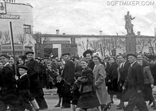 Демонстрация 1 мая 1955г.