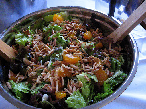 My friend Sarah's salad with almonds and mandarin oranges.