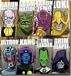 montaje de algunos de los villanos aparecidos en la serie