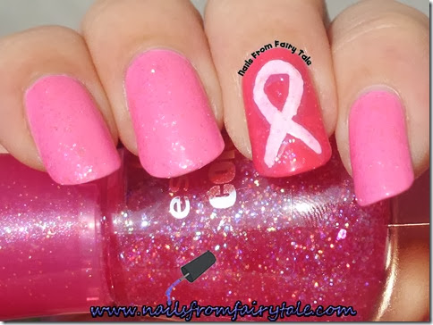 breast cancer awareness nails 4