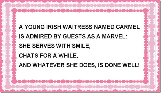 A YOUNG IRISH WAITRESS ....