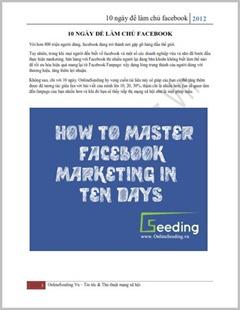 Tài liệu hướng dẫn - Làm chủ Facebook trong 10 ngày
