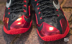 nike lebron 11 gr black red 10 05 New Photos // Nike LeBron XI Miami Heat (616175 001)