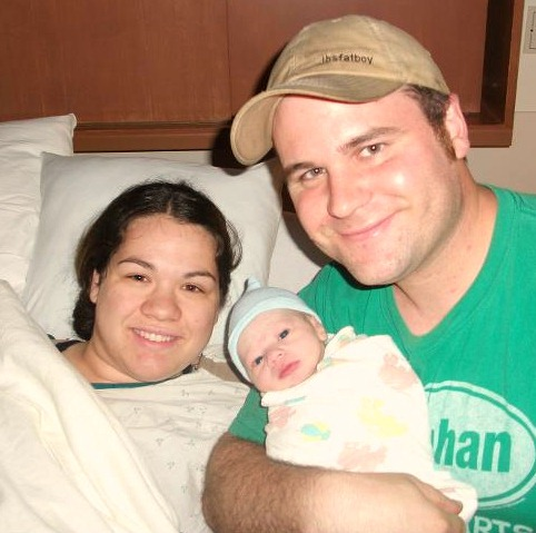 Silas with Mama and Daddy