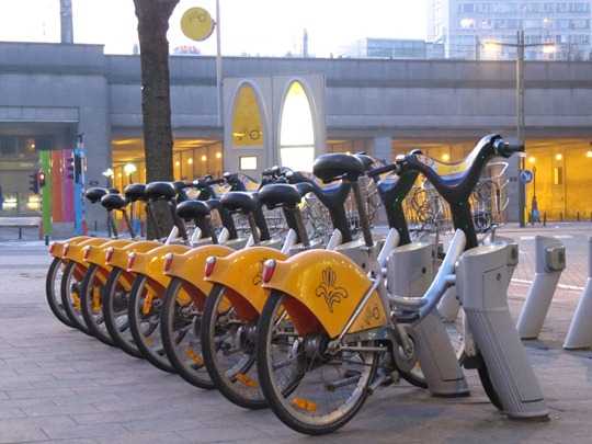 Villo! Bike sharing in Brussels, Belgium
