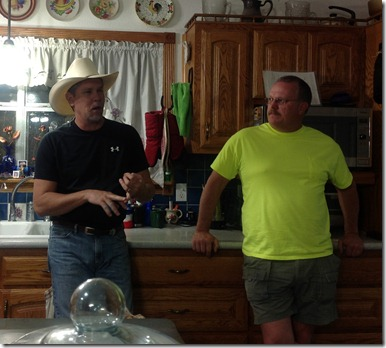 John and Troy in kitchen