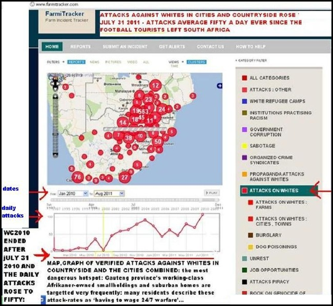 ATTACKS AGAINST WHITES RURAL AND SUBURBAN JAN2010 TO AUG12011 FARMITRACKER