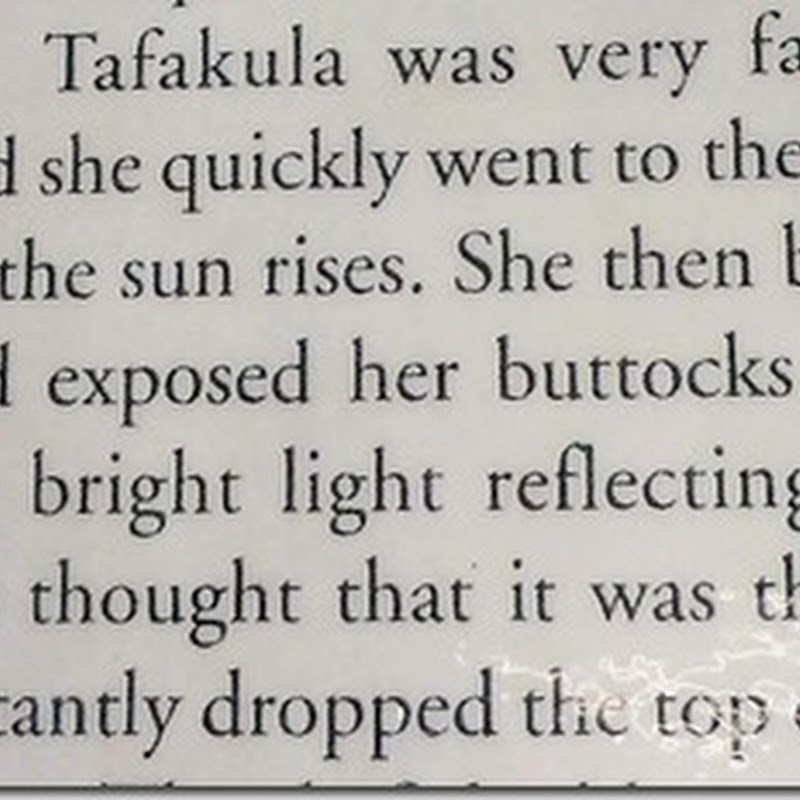 The Tongan Tale of the Bare Bottom