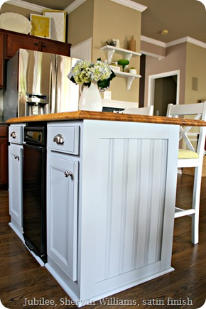 gray kitchen island