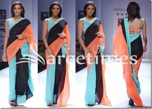 Shivan_Naresh_Tricolor_Saree