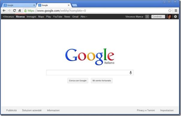 Google vecchia interfaccia