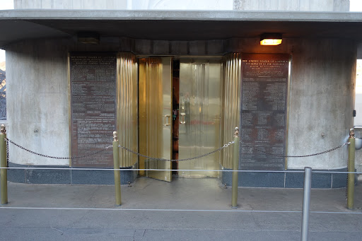 The entrance to the visitor's center had beautiful gilded doors.