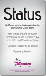 Anúncio Status 10 Anos.indd