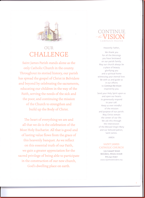 Continue the Vision  Capital  Campaign  page 3A