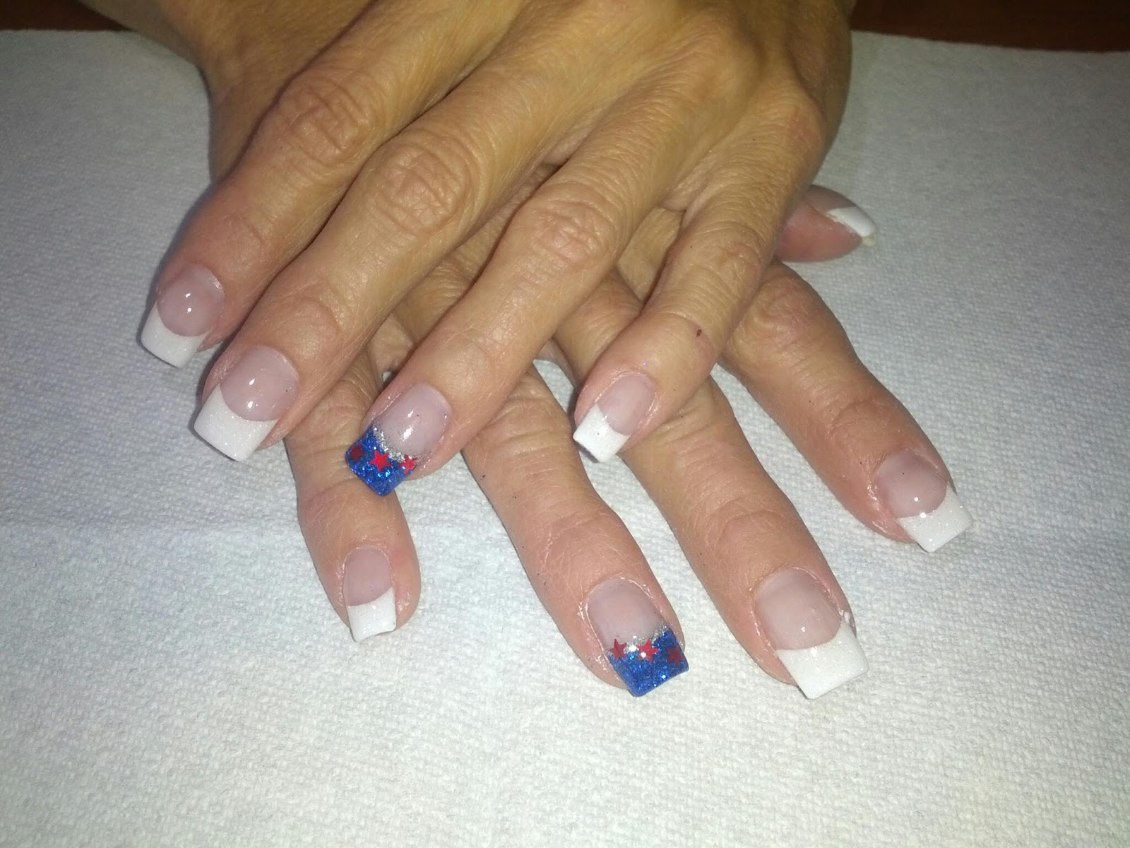 4th of July Gel Nails and Toes in St George and Washington ut