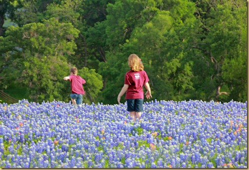 Kids in bluebonnets 2012