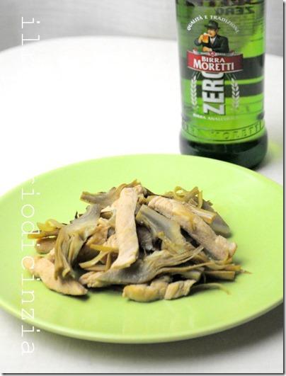 wok di pollo birra e carciofi light