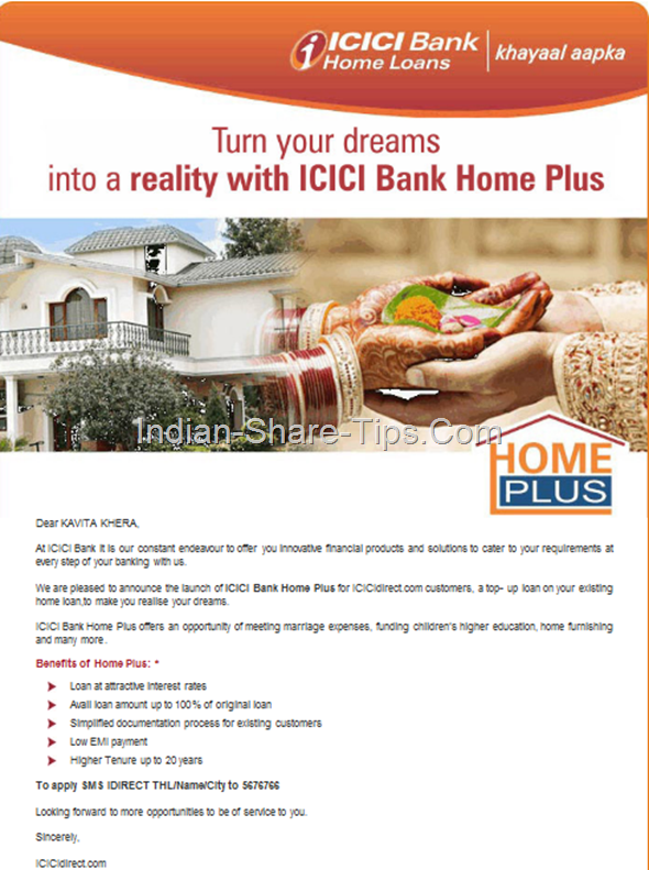 icici BANK TOP UP LOAN