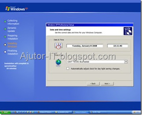 Ghid Instalare Windows XP 11