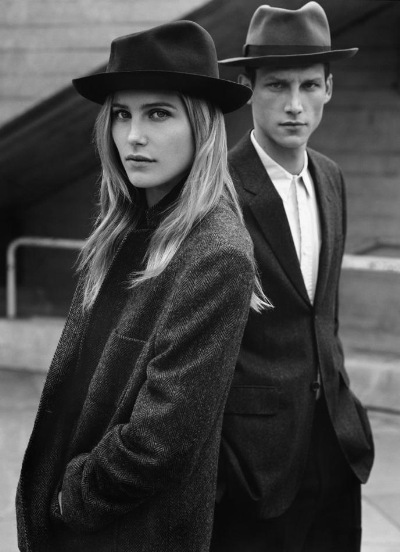 Dree Hemingway + Roch Barbot by Alasdair McLellan for Margaret Howell F/W 2011-12