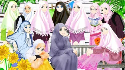 Girl Islamic Cartoon Muslim And Hijab Pictures Page