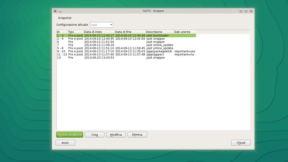 Snapper in openSUSE