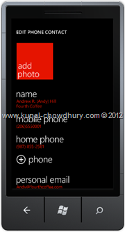 Screenshot 4 : How to Save Phone Number in WP7 using the SavePhoneNumberTask?