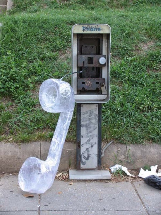 Selotape giant phone