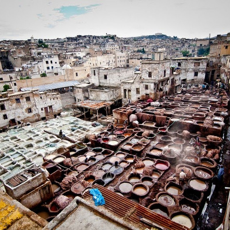 The Leather Tanneries of Fez, Morocco