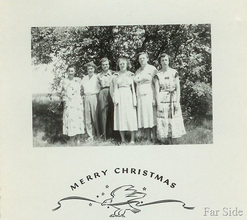 Christmas Card 1951 Mom and Grandma