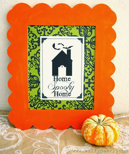 Creepy Welcome Halloween Printables - Home Spooky Home - The Silly Pearl