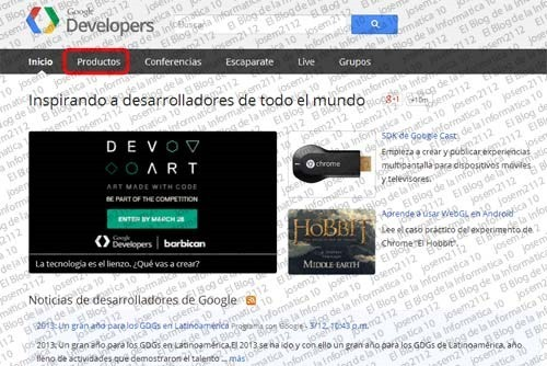 Widget de página de Google Plus - imagen principal google developers