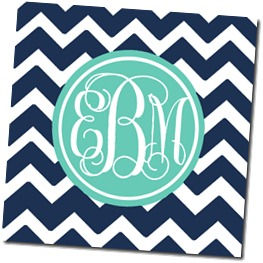 Chevron Coaster_Navy and Turqoise_eBm