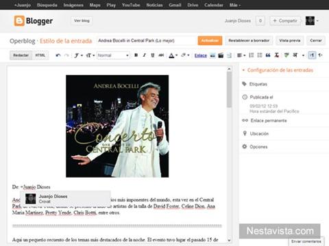 Perfiles de Google  en Blogger
