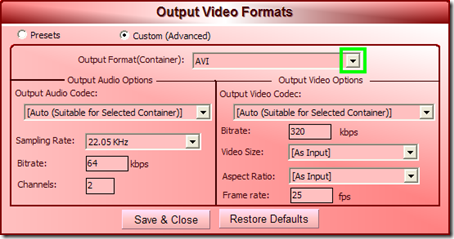 Video Cutter Max Output Video Formats